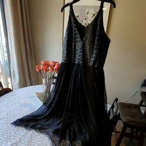Black sequence dress the population dress